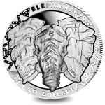Republic of Sierra Leone ELEPHANT series BIG FIVE Silver Coin $20 High Relief 2019 Proof 2 oz